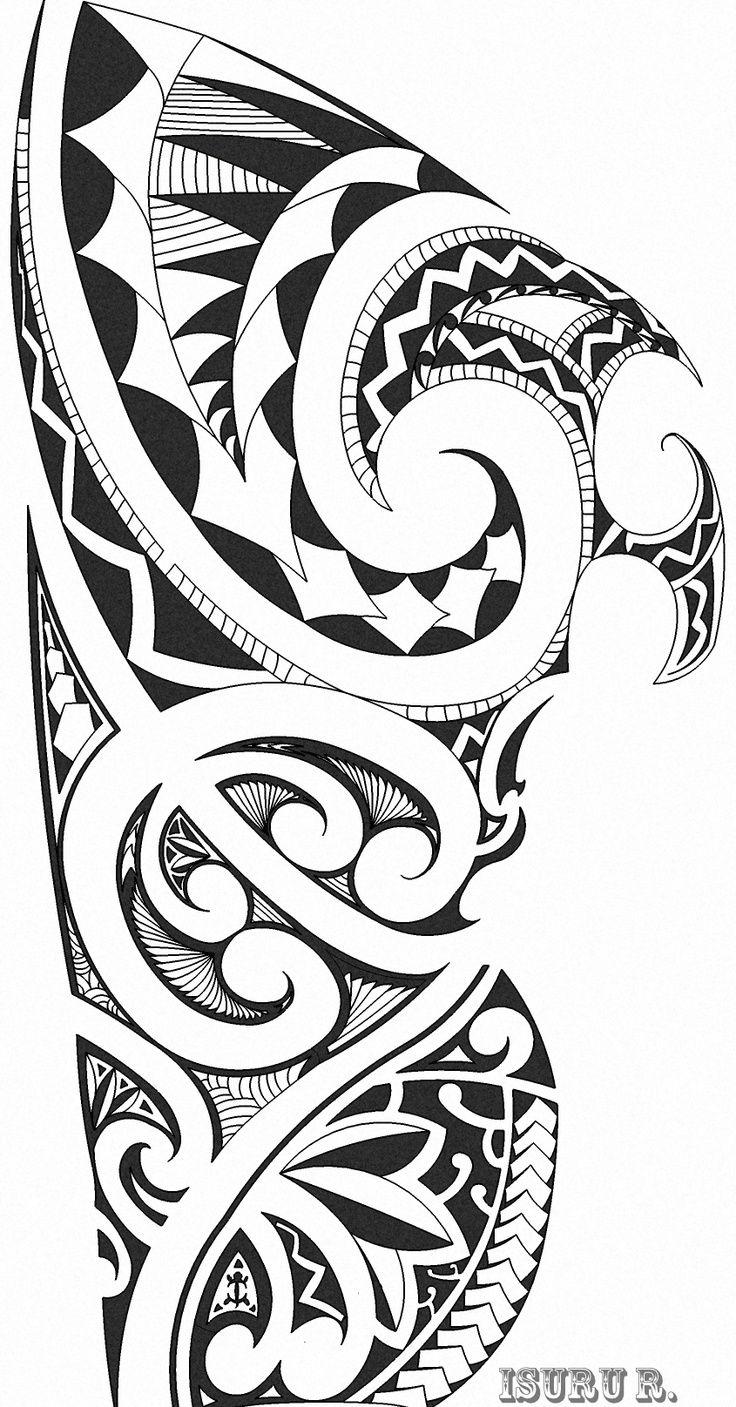 Polynesian Tribal Arm Tattoo Designs