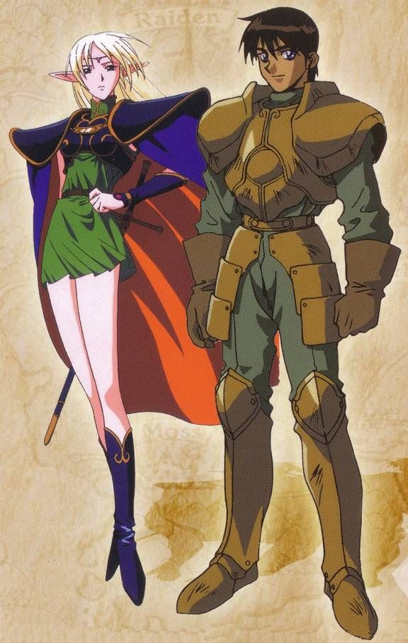 Record Of Lodoss War Deedlit Parn Old Anime Anime Characters