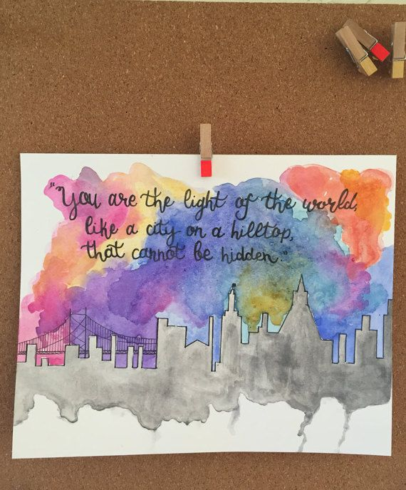 Custom listing for Bethany  hand lettered watercolor by ThruAshes
