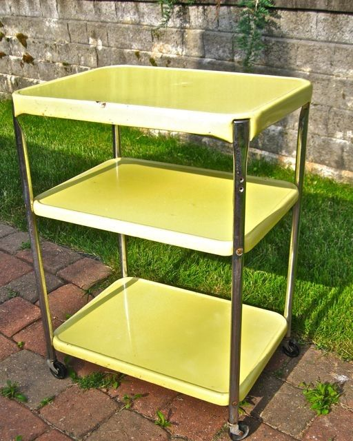 vintage metal rolling cart | vintage kitchen | Vintage bar ...
