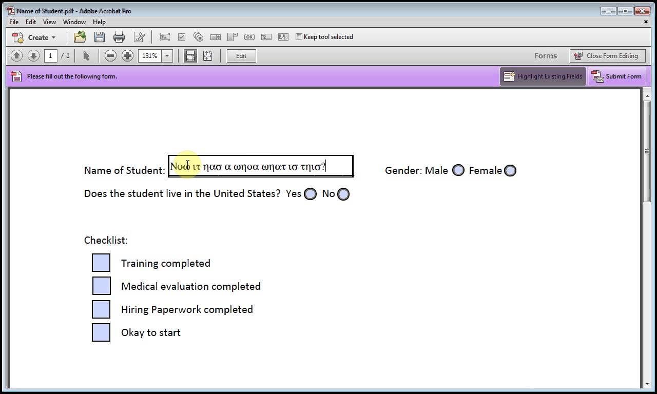 Adobe acrobat how to format text field box pdf form