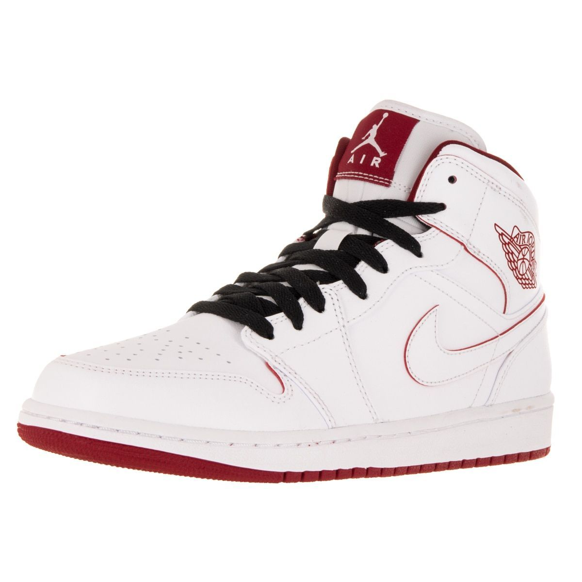 Nike Jordan Men's Air Jordan 1 Mid /Gym Red/Black Basketball Shoe