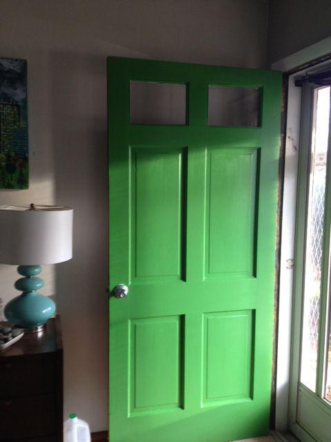 Our Grass Green Front Door Perfect Feng Shui For East Facing Doors It Reminds Me Of The Door To The Cottage Green Front Doors Feng Shui Front Door Front Door