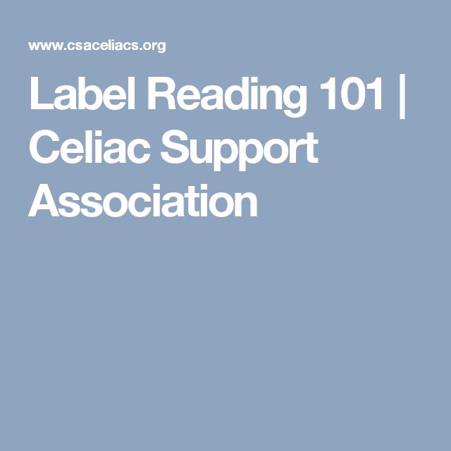 Label Reading 101   Celiac Support Association   Fact ...