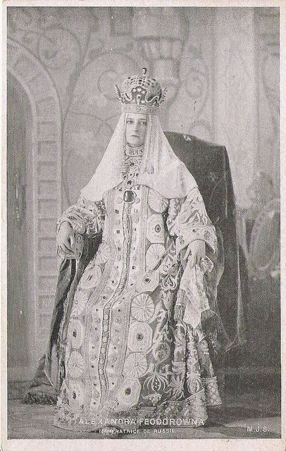 Empress Alexandra Feodorowna of Russia in old russian costume