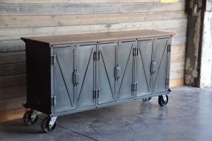 most awesome industrial sideboard