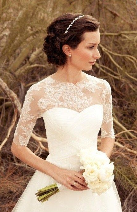 40 Best Short Wedding Hairstyles That Make You Say Wow Elegant Wedding Dress Wedding Dresses Elegant Wedding