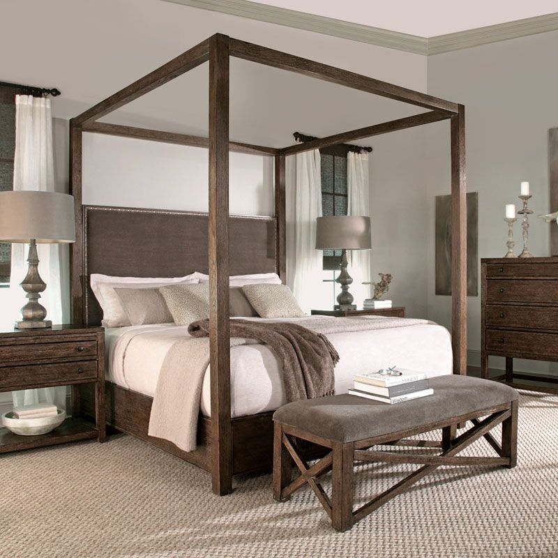master bedroom - such a chic four poster! More For the Home