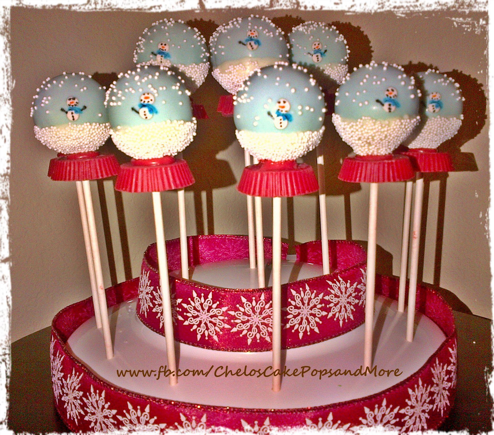 Snow Globe Cake Pops   Cake pops, Cake pop decorating ...