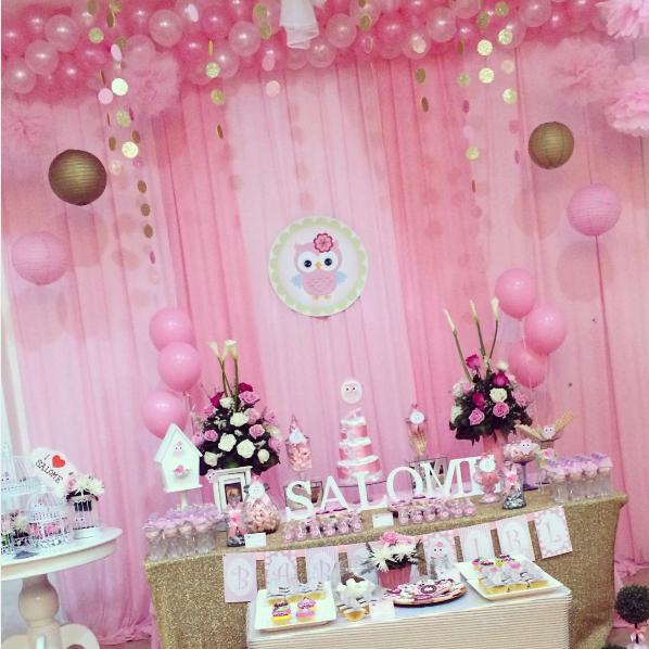 Resultado de imagen para decoracion baby shower ni a - Decoracion baby shower nina sencillo ...