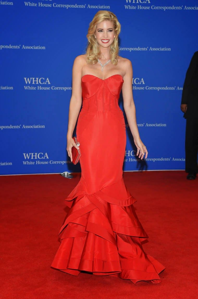 a47bbc88e3a Ivanka Trump in a glamorous red dress at the 2015 White House  Correspondents  Association Dinner