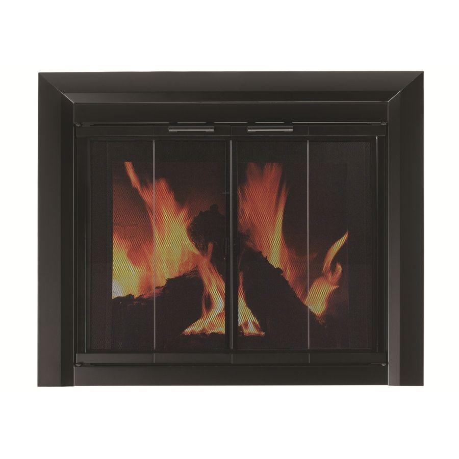 Pleasant Hearth Clairmont Black Medium Bi Fold Fireplace Doors With