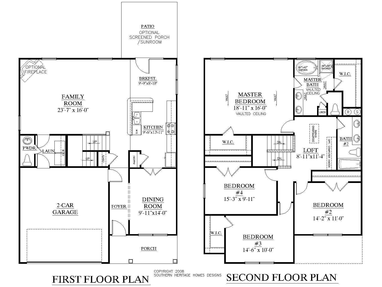 House Plan 2356 Laurens plan 2353 Square Feet 34'0