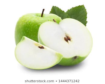 Slice Ripe Green Apple Falling Isolated Stock Photo Edit Now 1444371254 Green Apple Apples Photography Apple