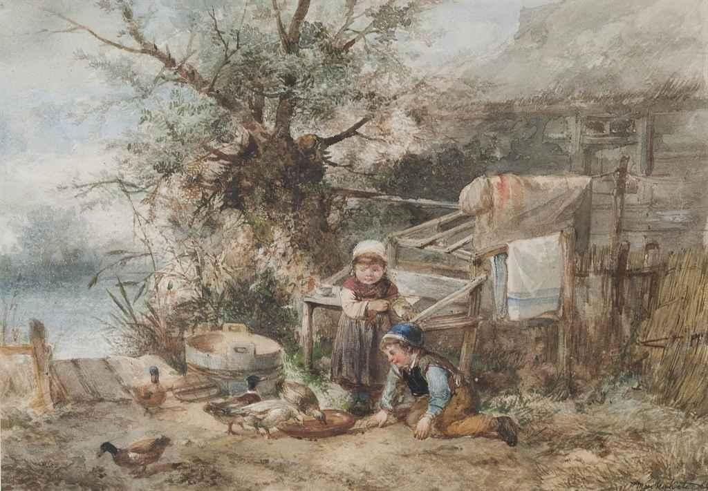 Johan Mari Henri ten Kate - De eenden voeren