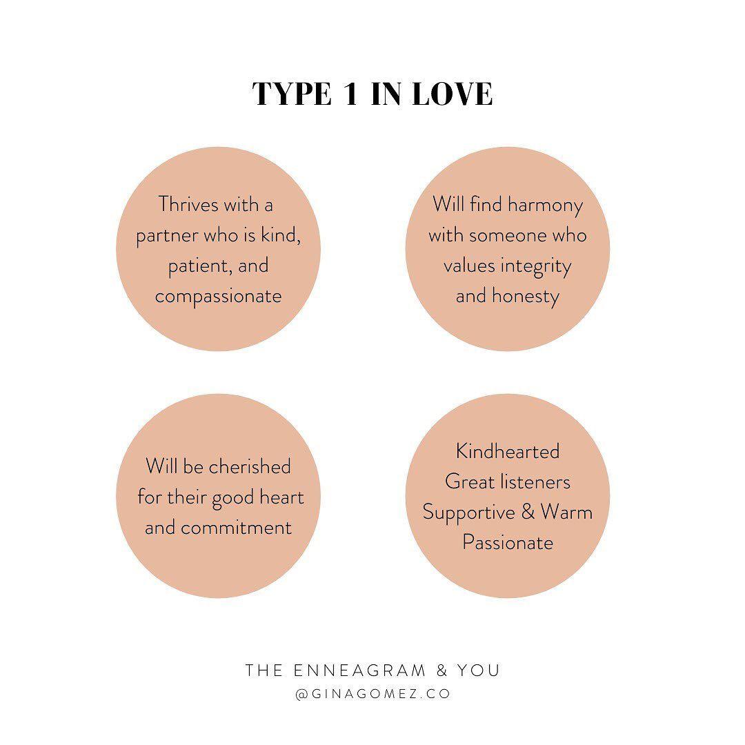 Enneagram 1 in Love