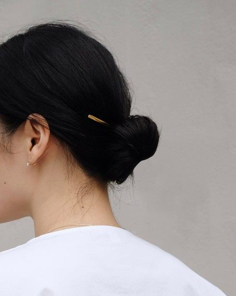 Find Out Where To Get The Hair Accessory Black Hair Aesthetic Black Hair Bun Bun Hairstyles