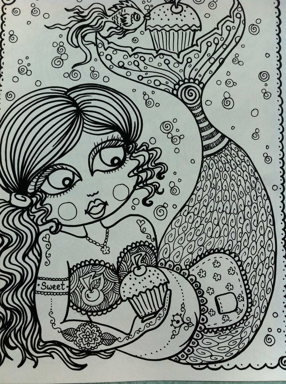 The Chubby Mermaid Coloring Book Fun for all ages be the ArTiST ...