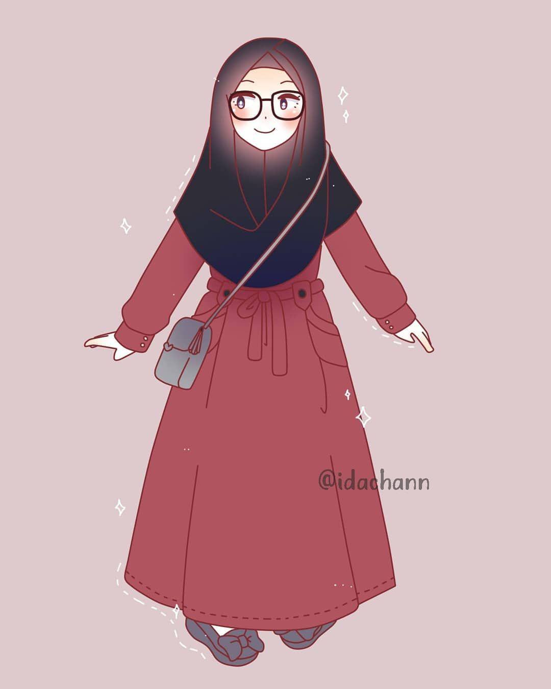 Koleksi 55  Gambar Animasi Muslimah Instagram  Terbaru