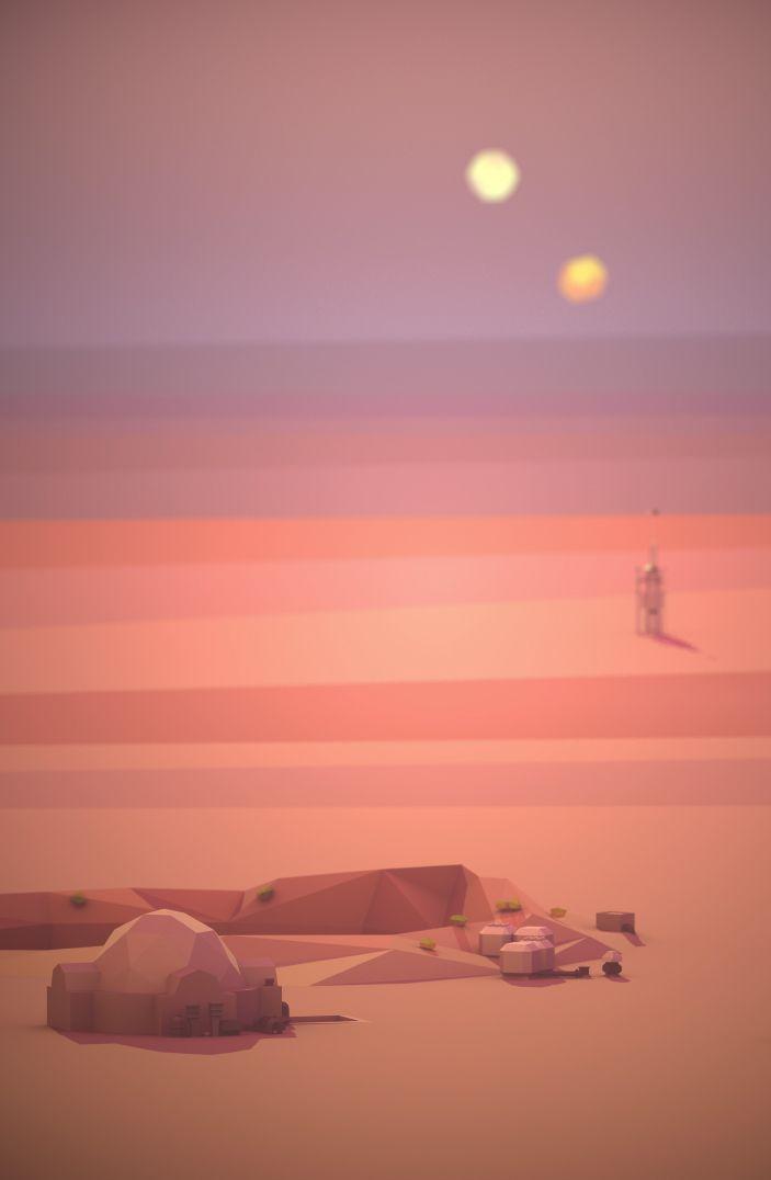 Desert Stead Mauricio Perin Visdev Portfolio Star Wars Background Star Wars Images Star Wars Painting
