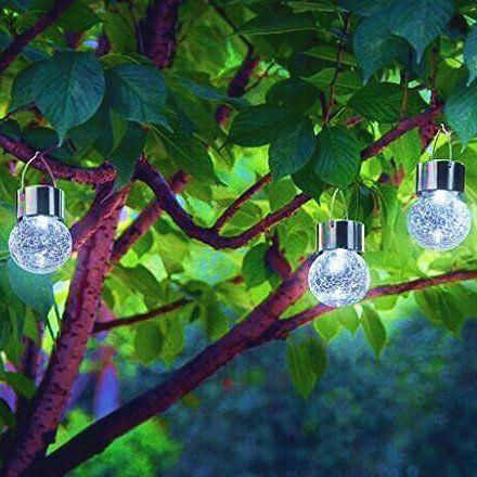 crackle glass solar outdoor lights