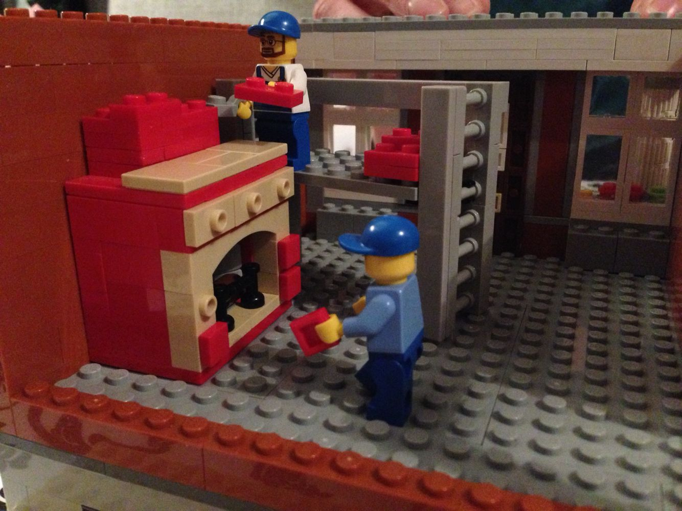 Lego moc dollhouse construction pic.