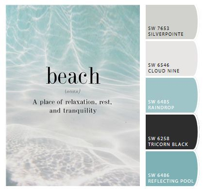 Bedroom Paint Color Schemes And Design Ideas Beach House Colors Beach Paint Colors Beach Cottage Style