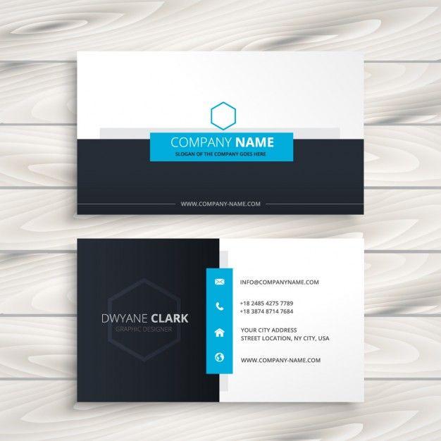 Sauberes Modernes Visitenkarten Design Sowie Modern