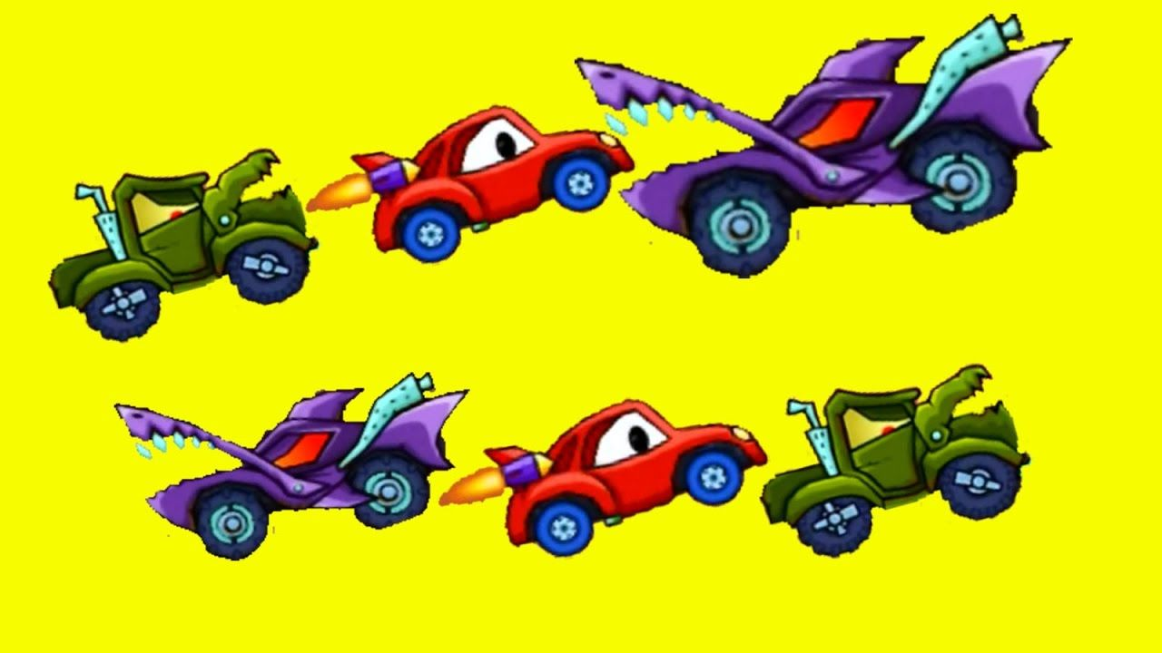 monster truck and monster car vs car race racing cars for kids video