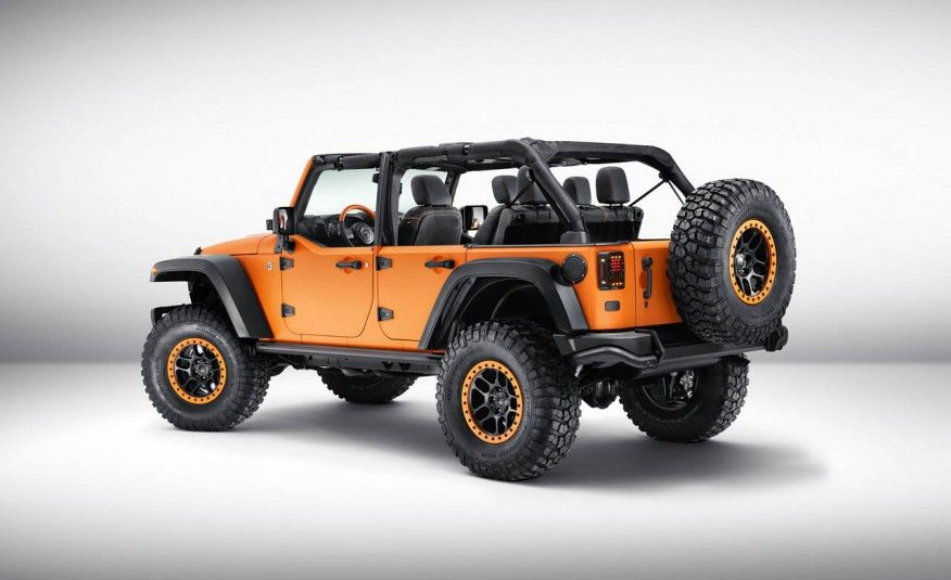 Jeep Wrangler Sunriser Concept Is Hellaciously Orange Photo Gallery Of Auto Show From Car And Driver Images