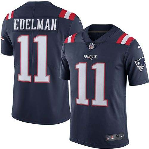 3cfaaa8472a ... Youth Nike New England Patriots 11 Julian Edelman Limited Navy Blue  Rush NFL Jersey ...
