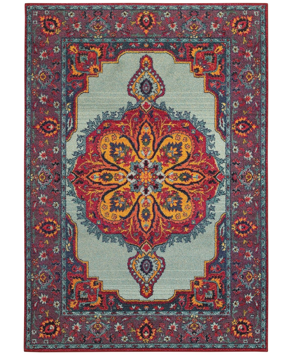 Closeout Jhb Design Archive Joni 7 10 X 10 10 Area Rug Blue