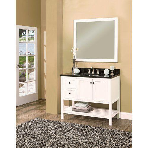 Found It At Wayfair Hampton Bay 42 Single Bathroom Vanity With Mirror Single Bathroom Vanity Bathroom Vanity 42 Inch Bathroom Vanity