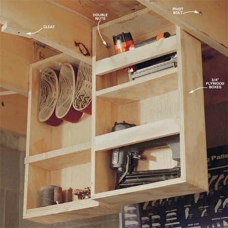15 Under Home Hidden Storage Ideas Workshop Storage Ceiling Storage Hanging Storage