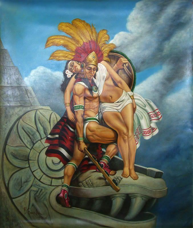 ce41a35d4 Romanticized Aztec warrior and his maiden… | Viva la Mexico in 2019 ...