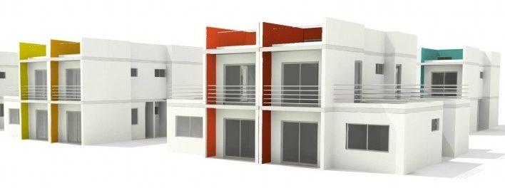 Estudo de cor. Concurso Habitação para Todos.CDHU.Sobrados - 2º Lugar.<br />Autores do projeto  [equipe premiada]