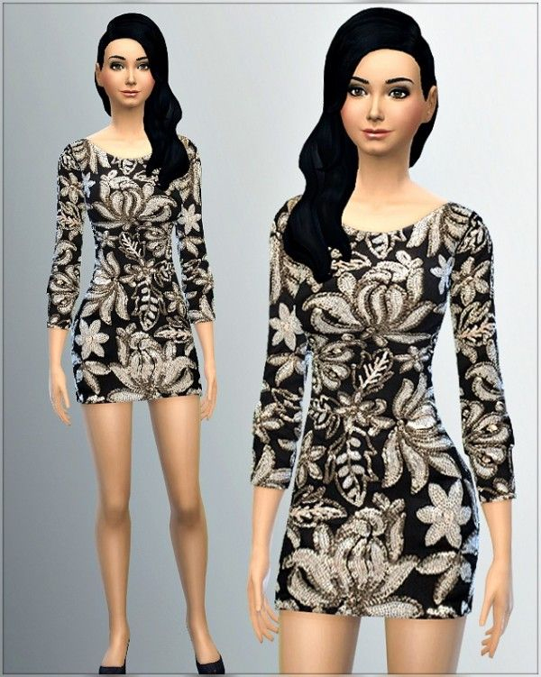 Irida Sims 4: Dress 5_I • Sims 4 Downloads