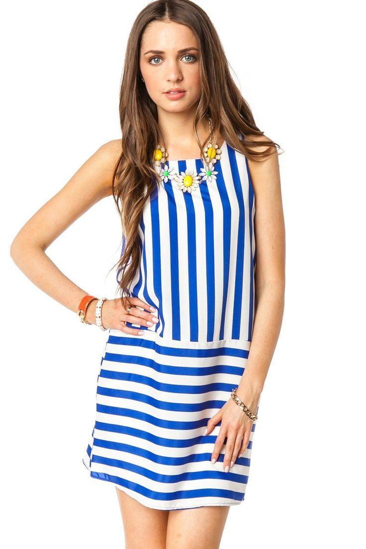 ShopSosie Style : Gallio Dress in Royal $50