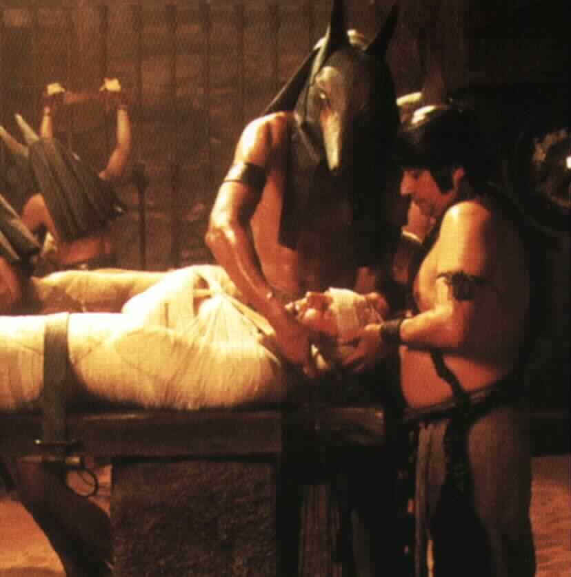 imhotep is mummified alive
