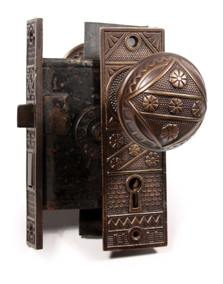 Antique Door Furniture, RECLAIMED RESTORED VICTORIAN RIMLOCKS..
