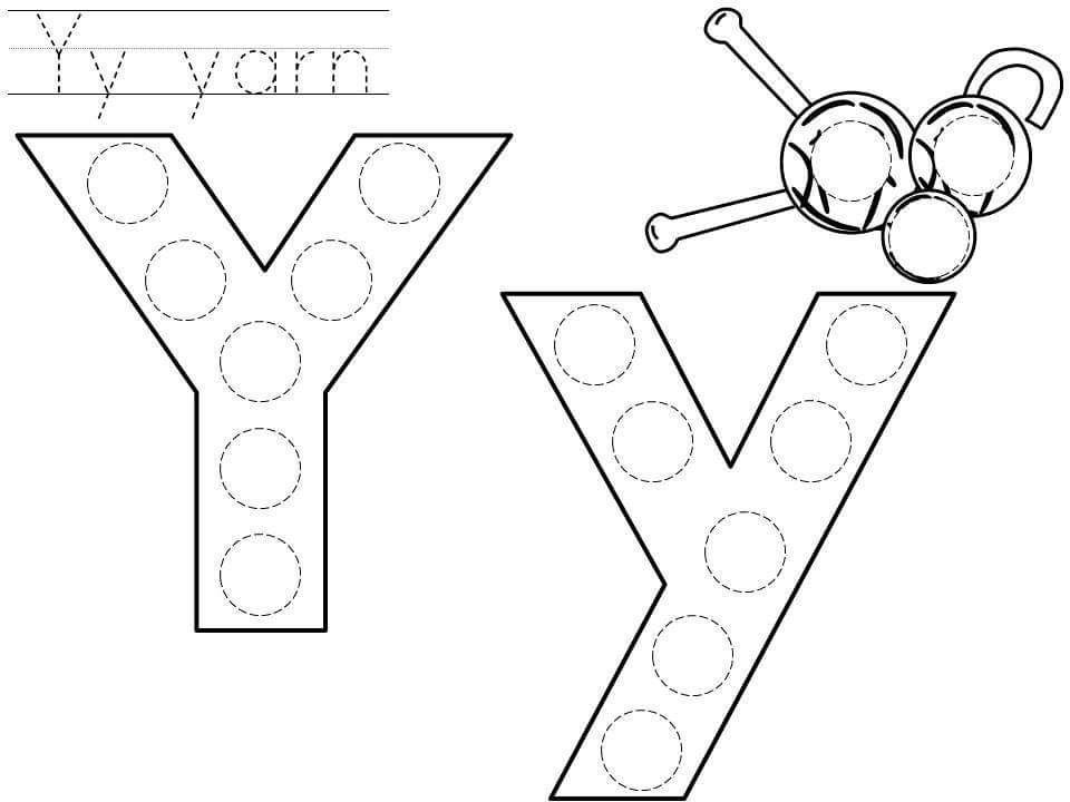 Dot Letters Do A Dot Preschool Worksheets Free printable letter y worksheets