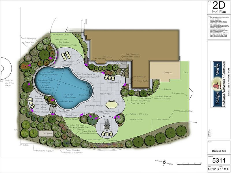 Landscape Plan With A Pool Yes Please Landscape Plans