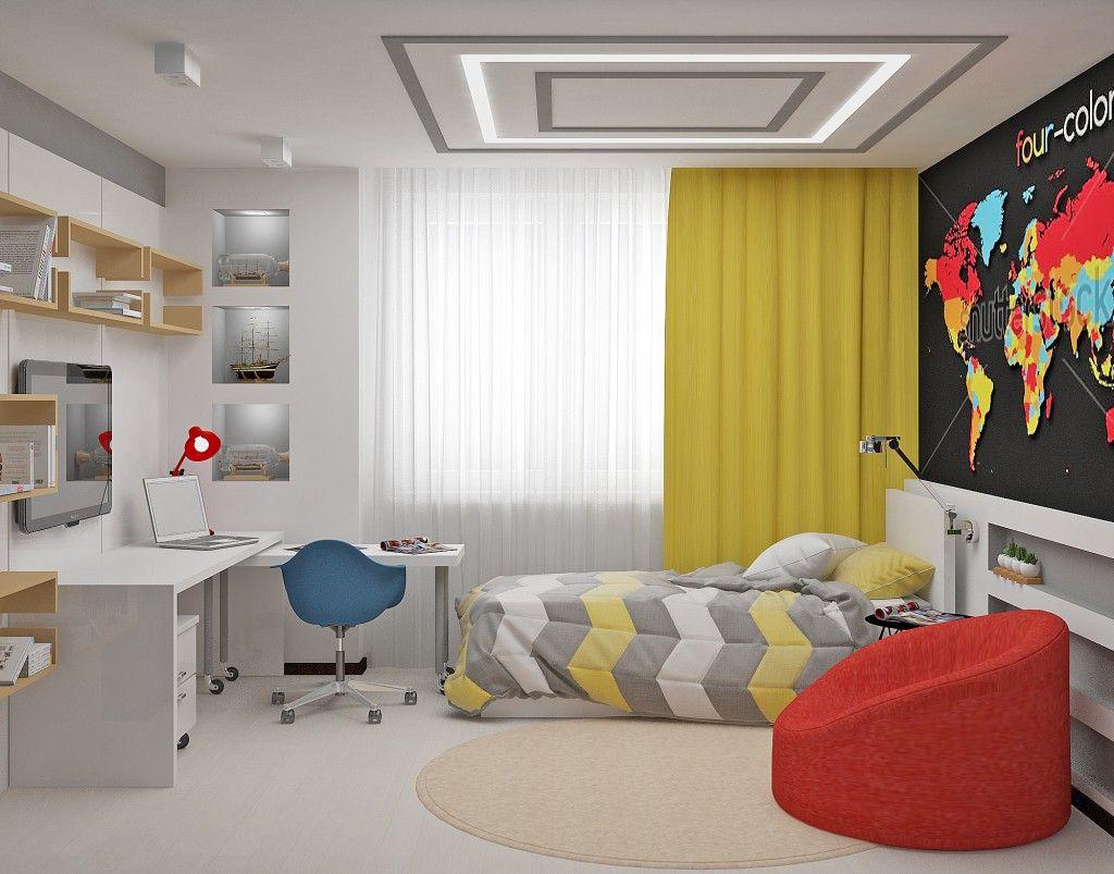 Интерьер комнаты для мальчика или девочки подростка (26 ...