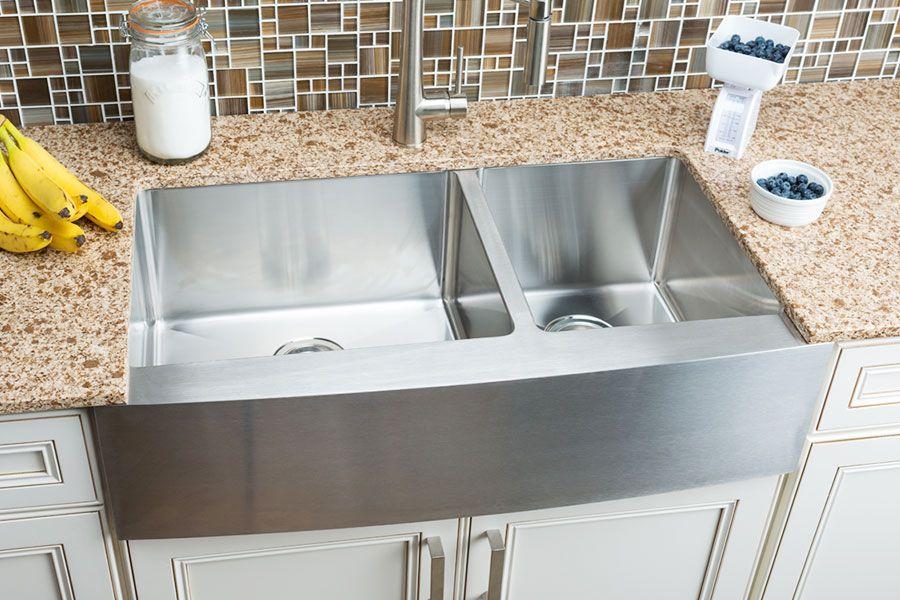 Hahn Farmhouse Large 60 40 Double Bowl Sink Farmhouse Sink Kitchen Sinks Kitchen Stainless Stainless Steel Kitchen Sink