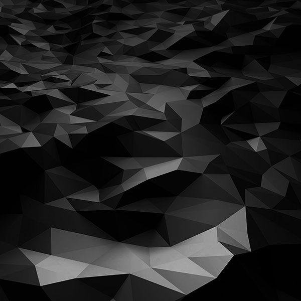 Wallpaper Vj29 Low Poly Art Dark Bw Pattern Papel De Parede Android Papel De Parede Celular Papeis De Parede