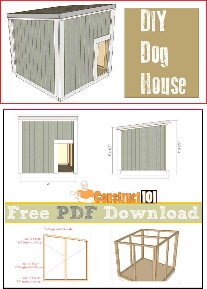 Large Dog House Plans Pdf Download Construct101 Pdf Plans