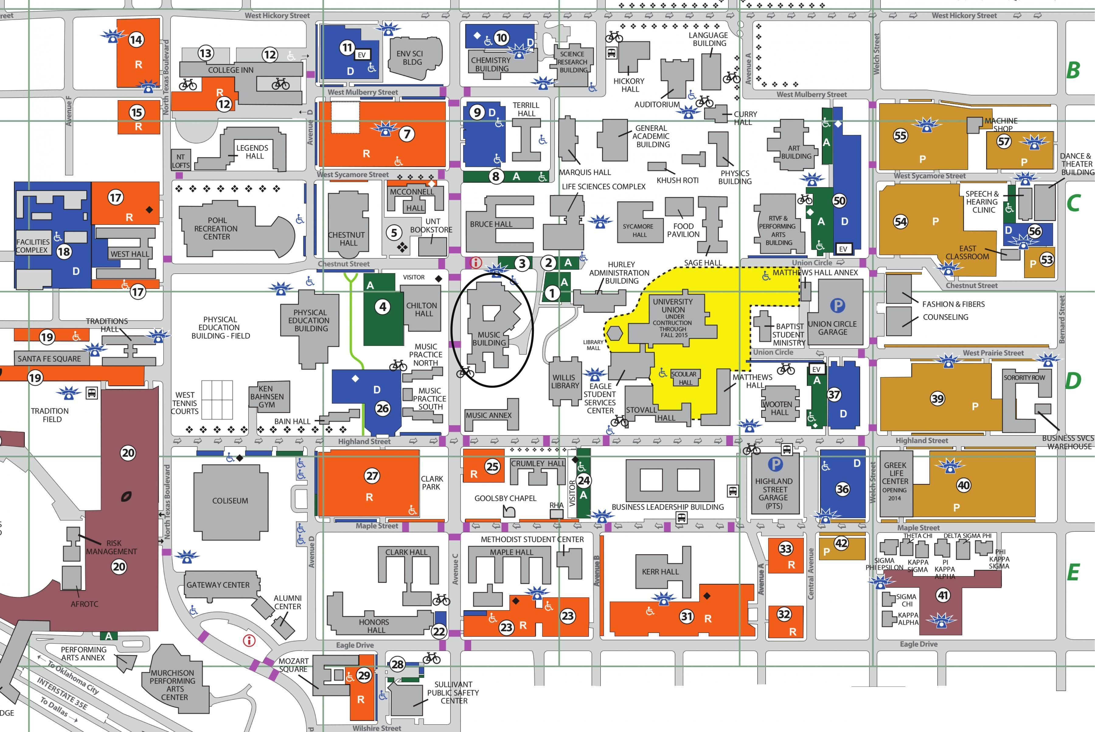 unt denton campus map Unt Dallas Campus Map Campus Map Campus University Campus unt denton campus map