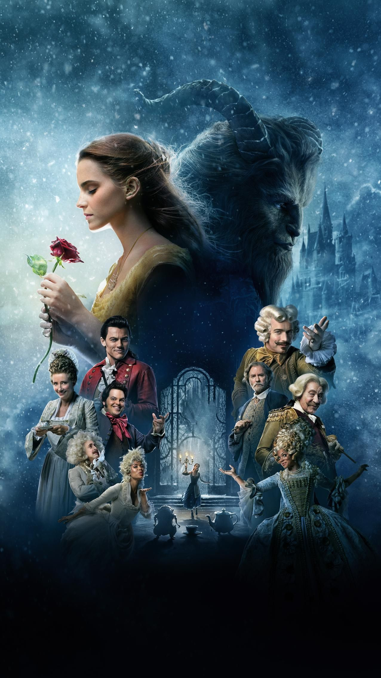 Beauty And The Beast 2017 Phone Wallpaper Beauty The