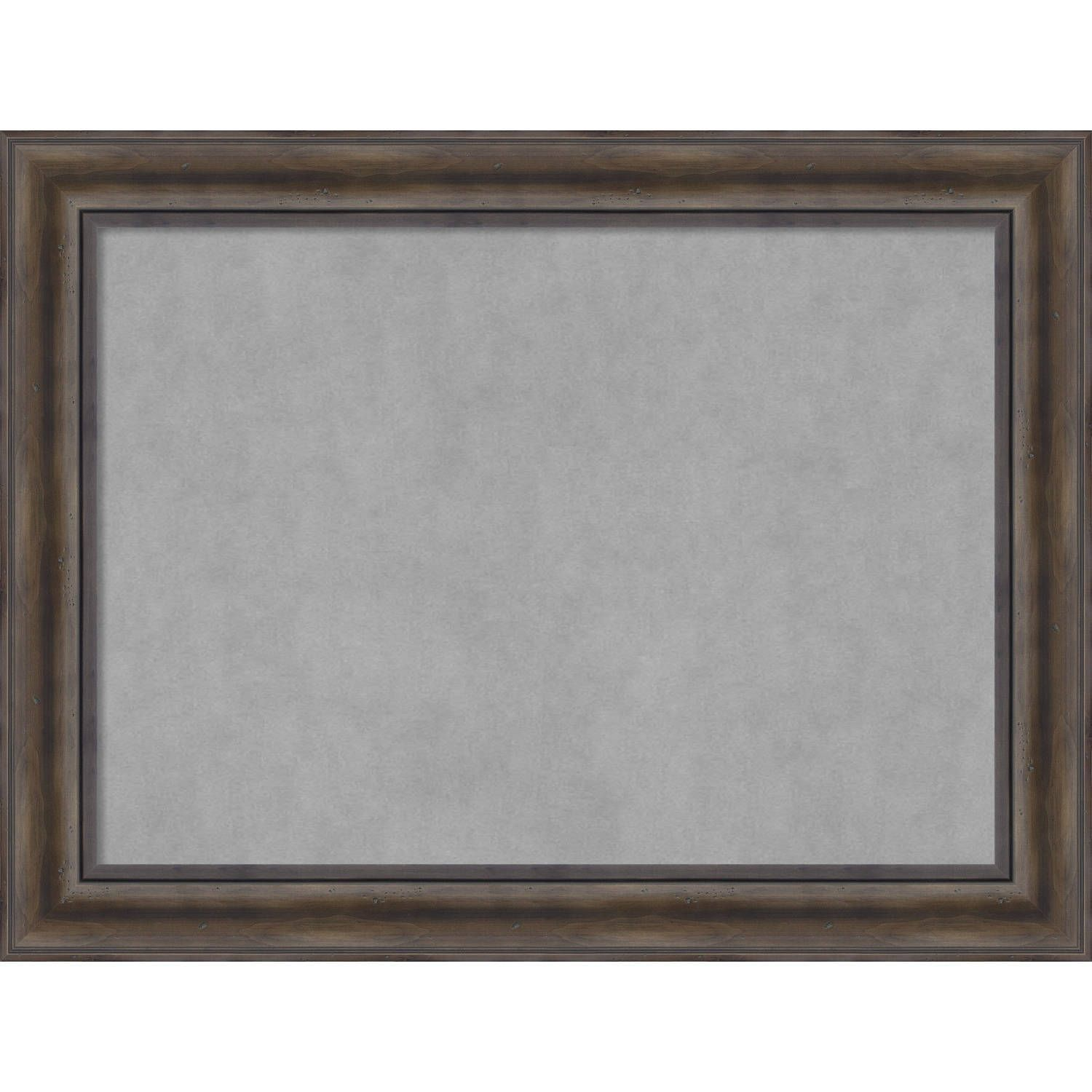 Magnetic Board Rustic Pine Large 34 X 26 Inch Brown