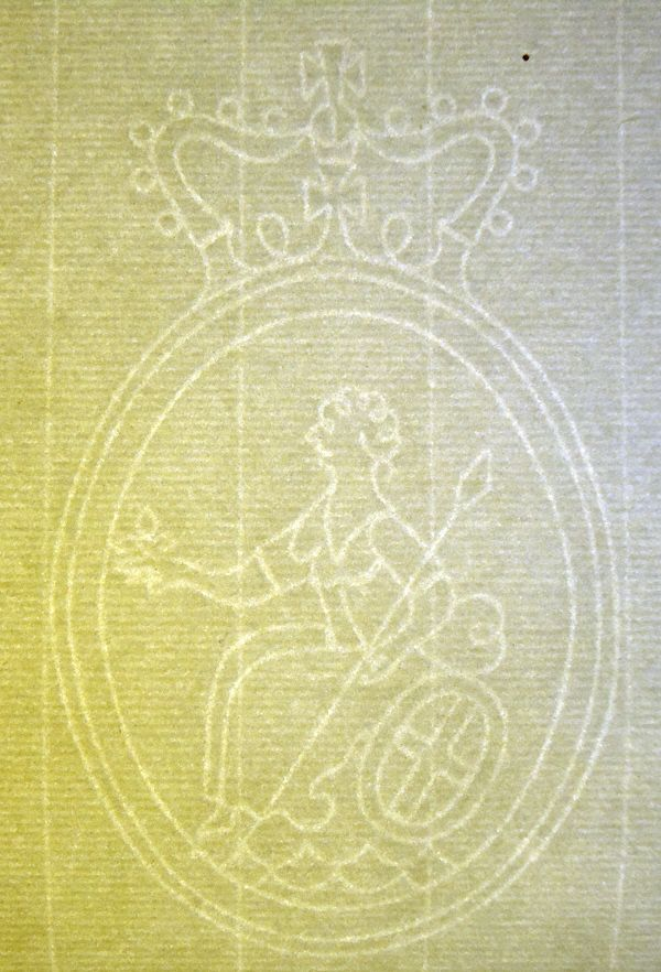 Whatman made laid texture paper with   a Britiannia device/watermark  See more on the source site: a Virtual art supplies Museum